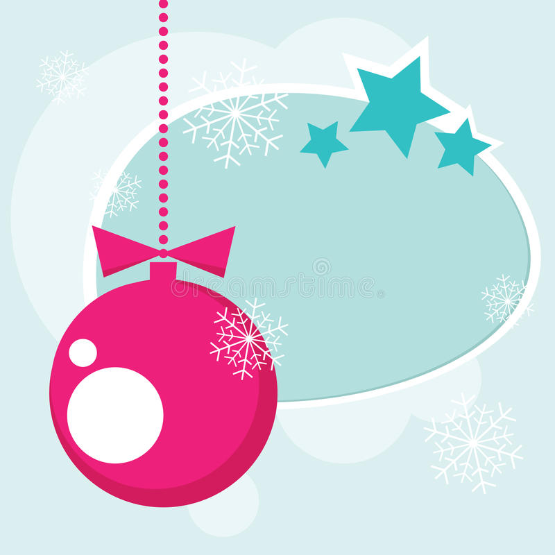 Christmas ball and snow vector illustration