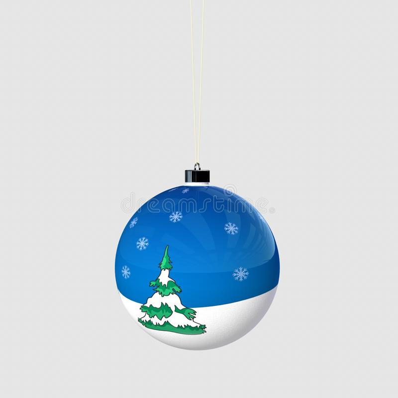 Christmas ball with snowflakes stock images