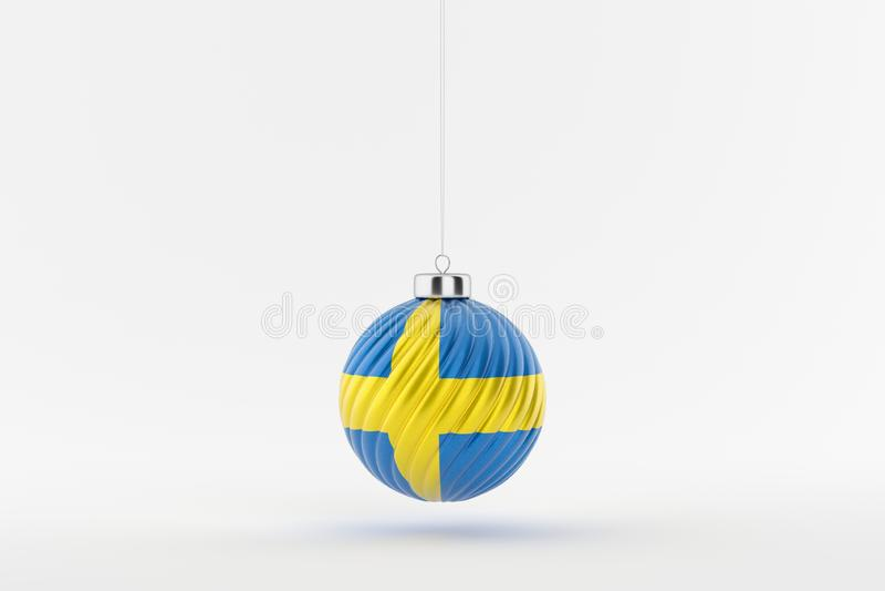 CHRISTMAS_BALL_SWEDEN_01 lizenzfreies stockfoto