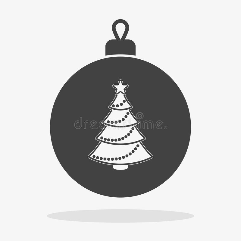 Christmas ball with tree stock images