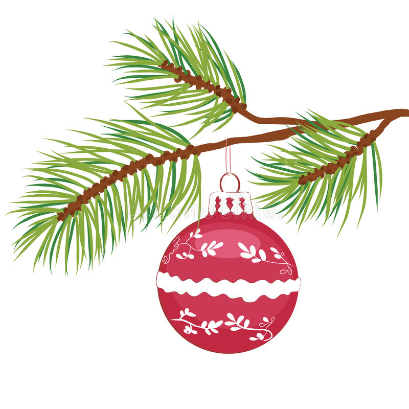 Christmas ball vector royalty free stock images