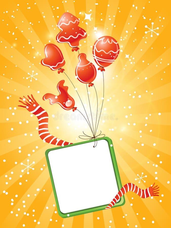 Download Christmas balloons stock vector. Image of happy, balloon - 21158706
