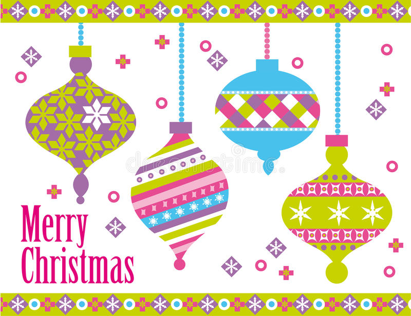 Christmas balls royalty free illustration