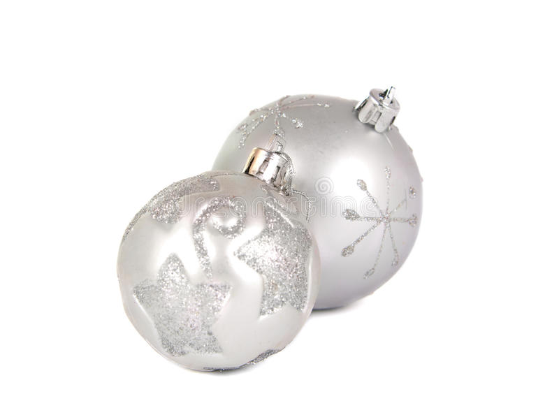 Christmas balls. On a white background royalty free stock photo