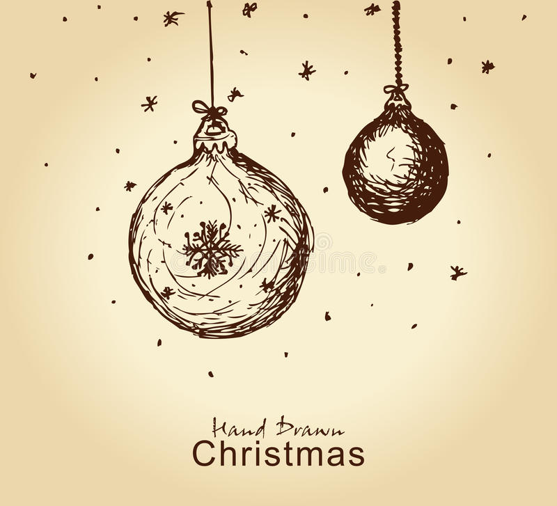 Christmas balls stock illustration