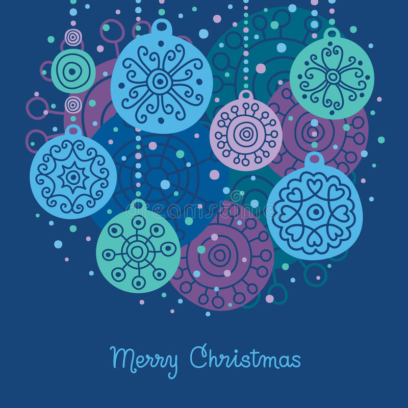Christmas balls vector illustration