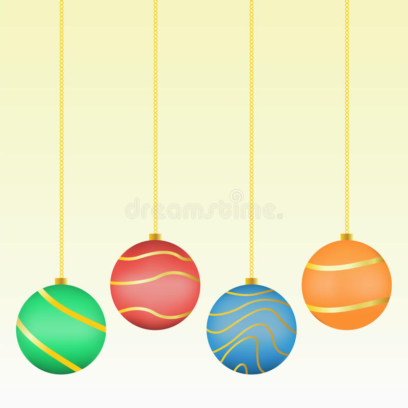Download Christmas Balls stock vector. Illustration of line, ornament - 23499112