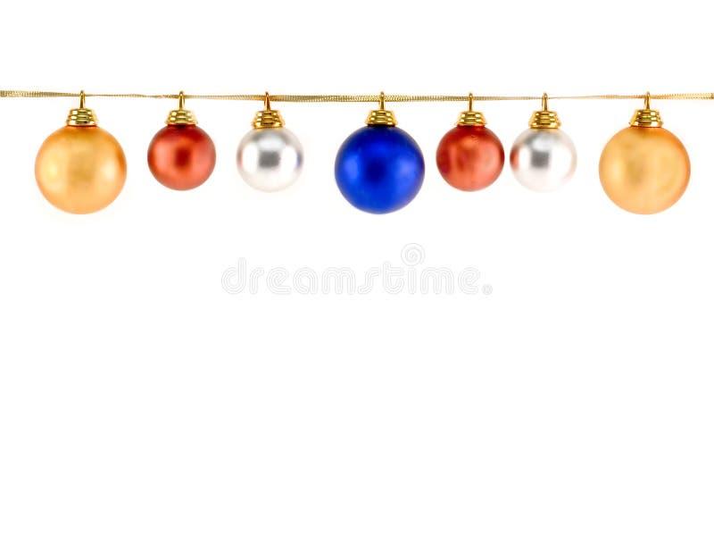 Christmas Balls. Isolated on white stock photos