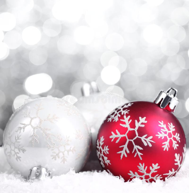 Download Christmas Balls On Abstract Background Stock Image - Image: 16741433