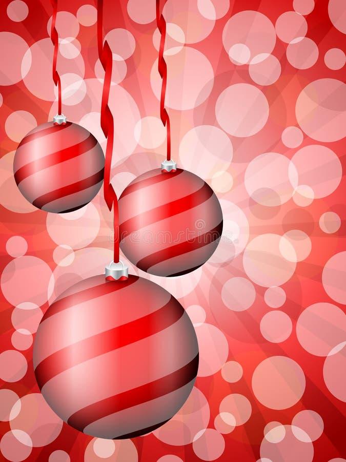 Download Christmas Balls Abstract Bokeh Red Stock Illustration - Image: 27261940