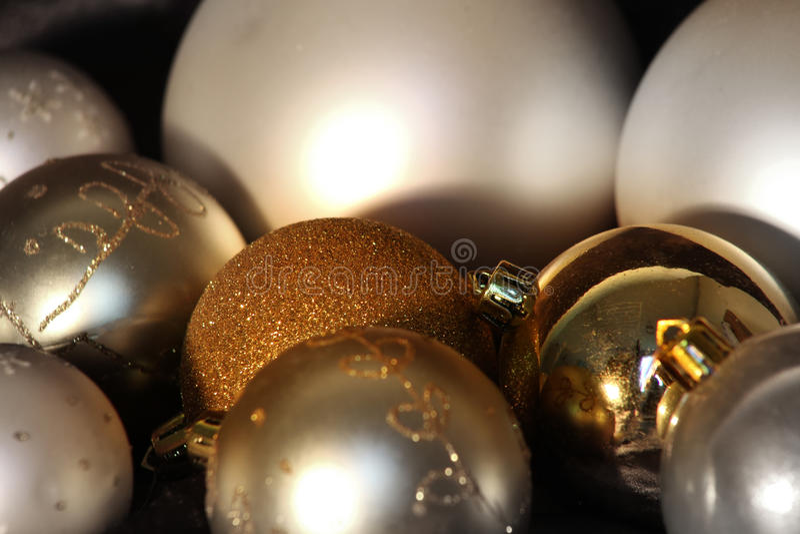 Christmas balls abstract greeting card royalty free stock photos