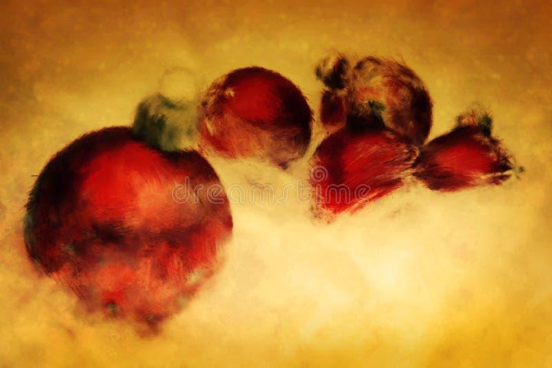 Download Christmas Balls. Artistic Painting. Stock Illustration - Image: 26610267