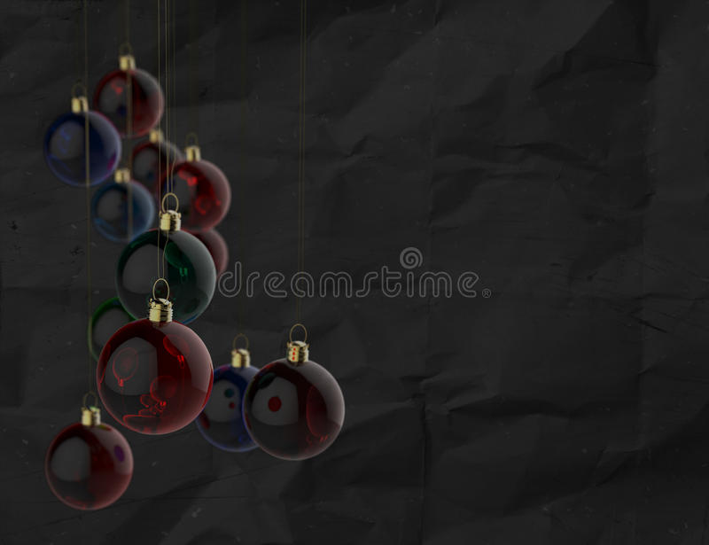 Download Christmas Balls As Vintage Style Stock Photo - Image: 34117046