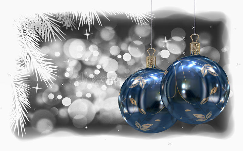Download Christmas balls background stock illustration. Image of merry - 21799254