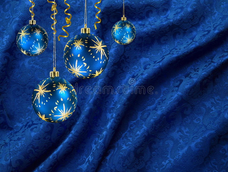 Download Christmas Balls Blue Curtain Stock Image - Image of natural, curtains: 11705381