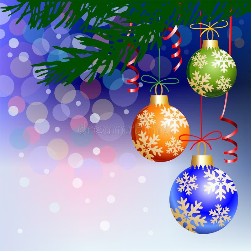 Download Christmas Balls On Blue Light Background Stock Illustration - Image: 21634091