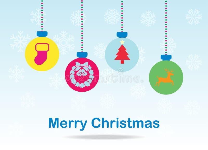 Christmas balls card royalty free stock image