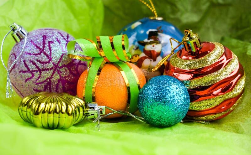 Christmas balls celebration decoration isolated stock image