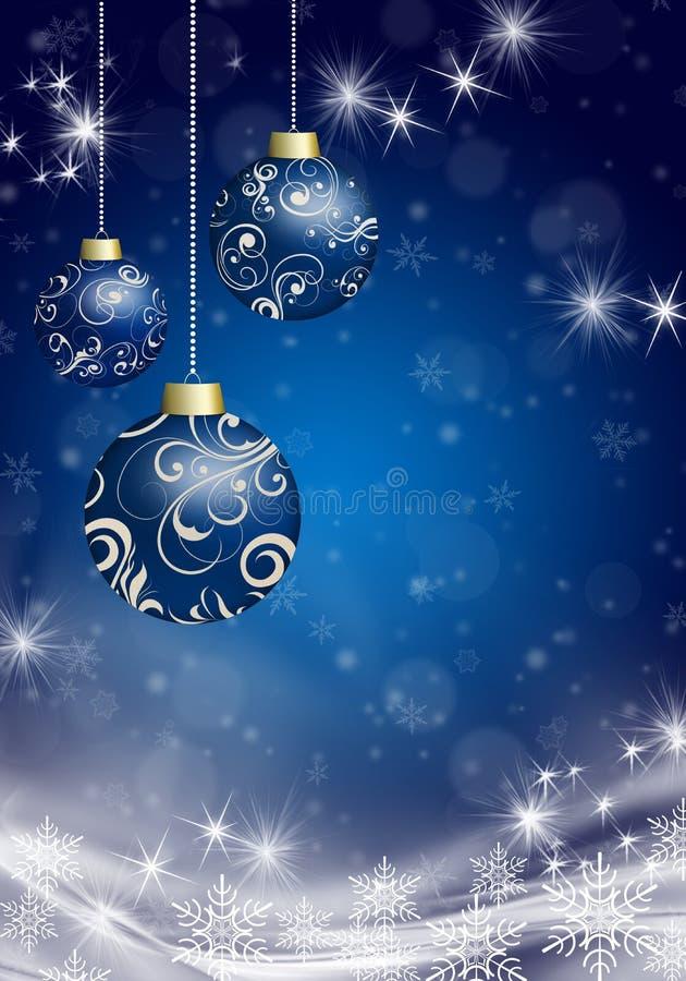 Christmas balls on the Christmas background stock illustration