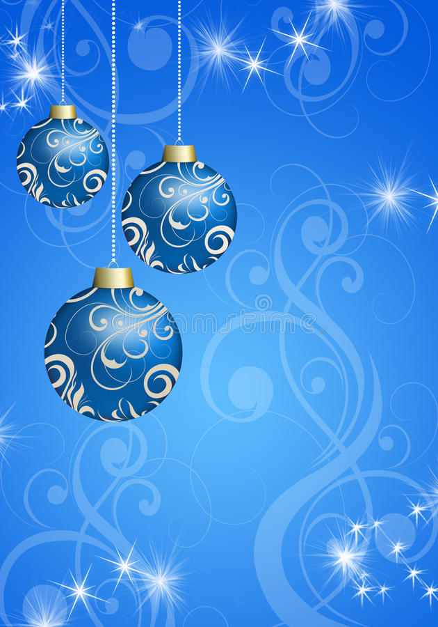 Christmas balls on the Christmas background vector illustration