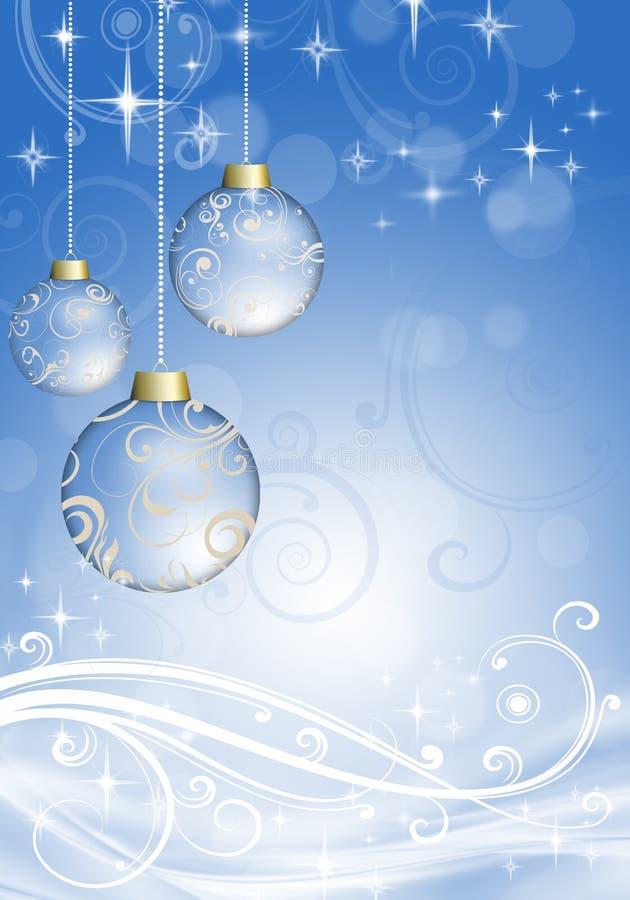 Christmas balls on the Christmas background royalty free illustration