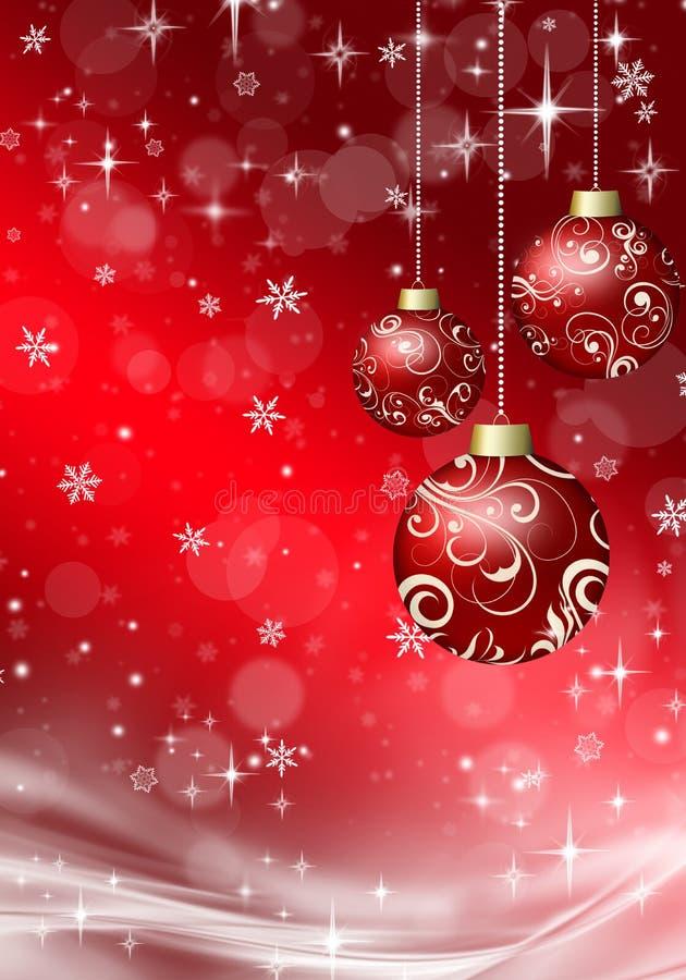 Christmas balls on the Christmas background vector illustration