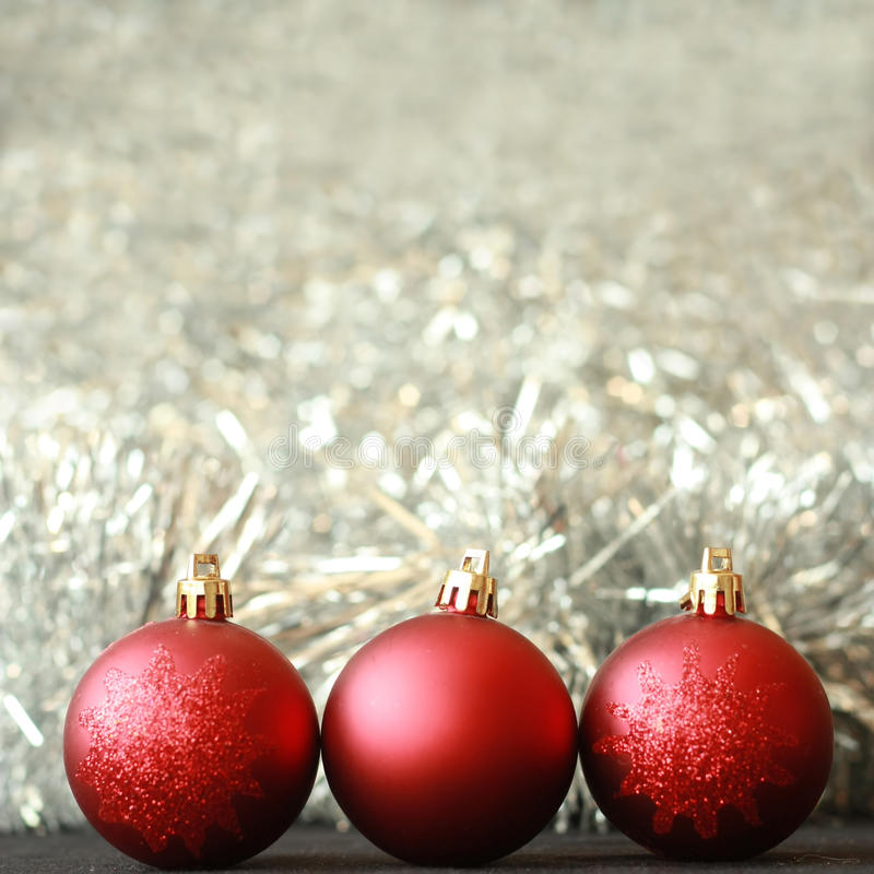 Christmas Balls Decorations Stock Photo