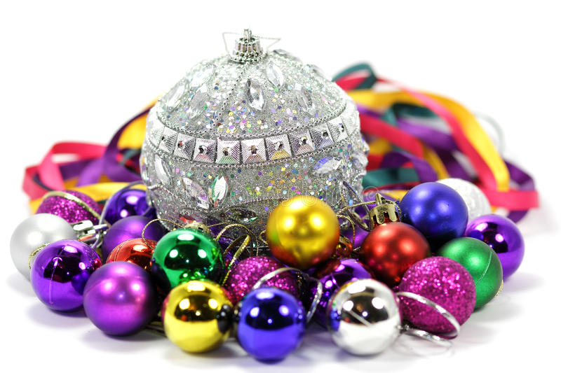 Download Christmas Balls Of Different Colors Stock Photo - Image: 27997054