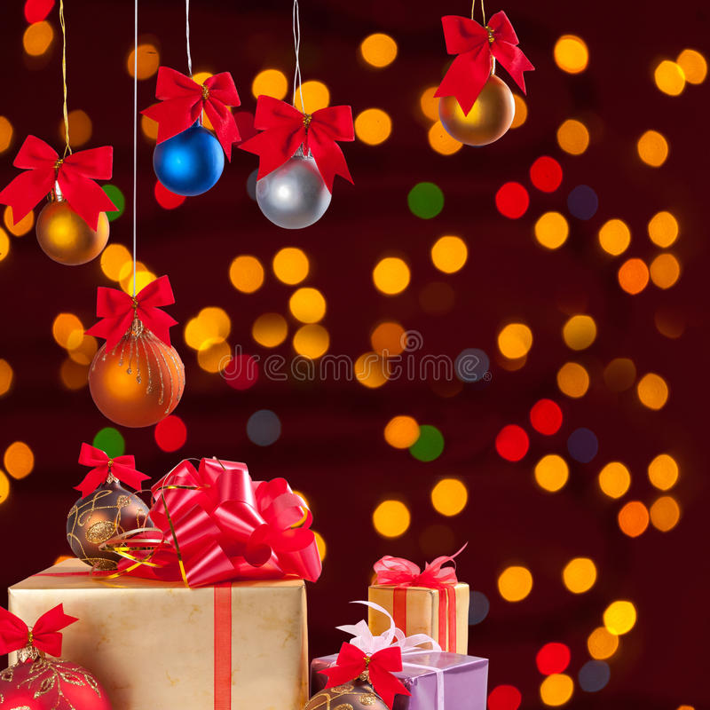 Download Christmas Balls And Gifts 1 Stock Image - Image: 26273343