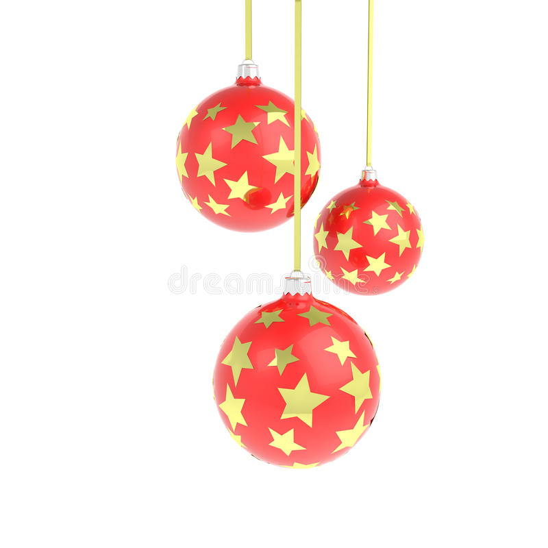 Download Christmas Balls With Golden Stars Stock Illustration - Image: 12279906
