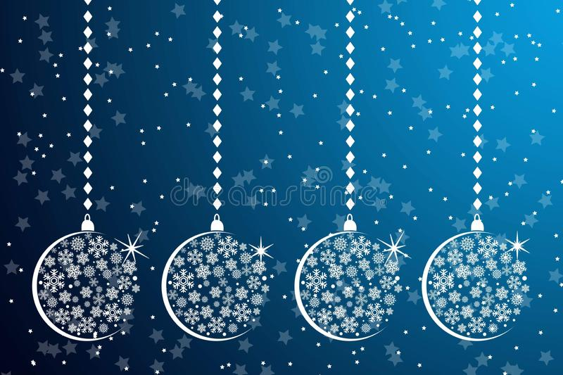 Christmas balls on light blue background royalty free stock images