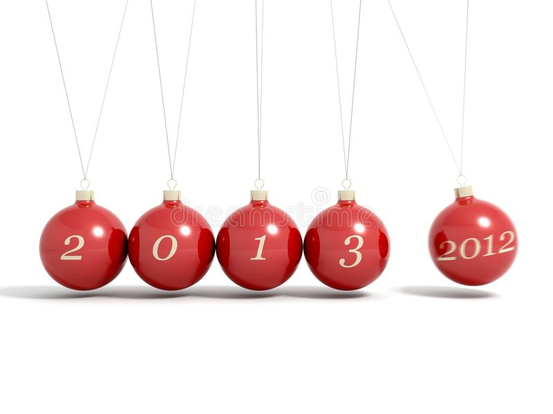 Christmas balls new year's eve pendulum 2013 vector illustration