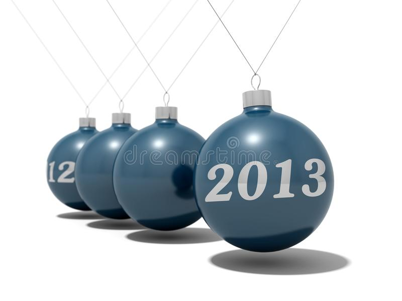 Christmas balls new years eve vector illustration