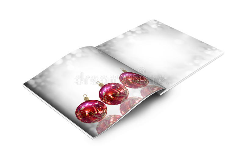 Christmas Balls Picture Book Royalty Free Stock Photography