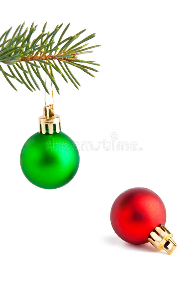 Christmas Balls On The Pine-tree Royalty Free Stock Image