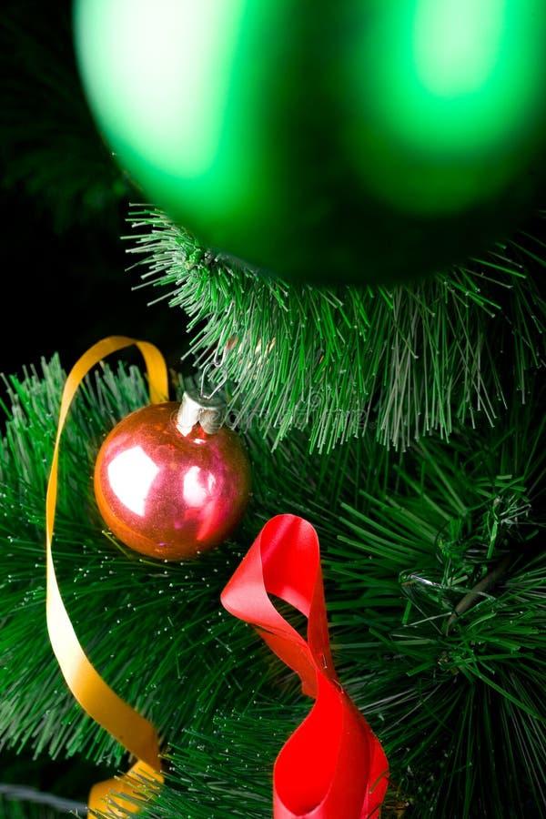Download Christmas Balls On Pine Tree Stock Photo - Image: 8451522