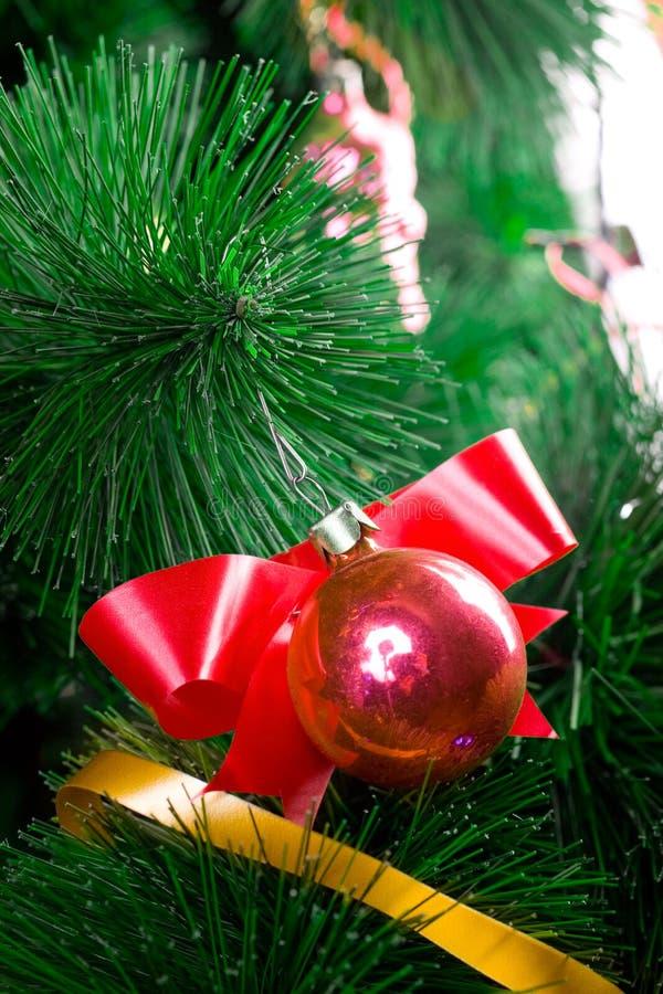 Download Christmas Balls On Pine Tree Stock Image - Image: 8451561