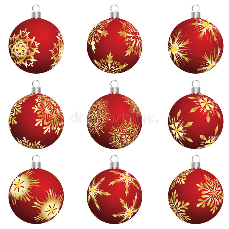 Download Christmas balls set stock vector. Image of background - 11702640