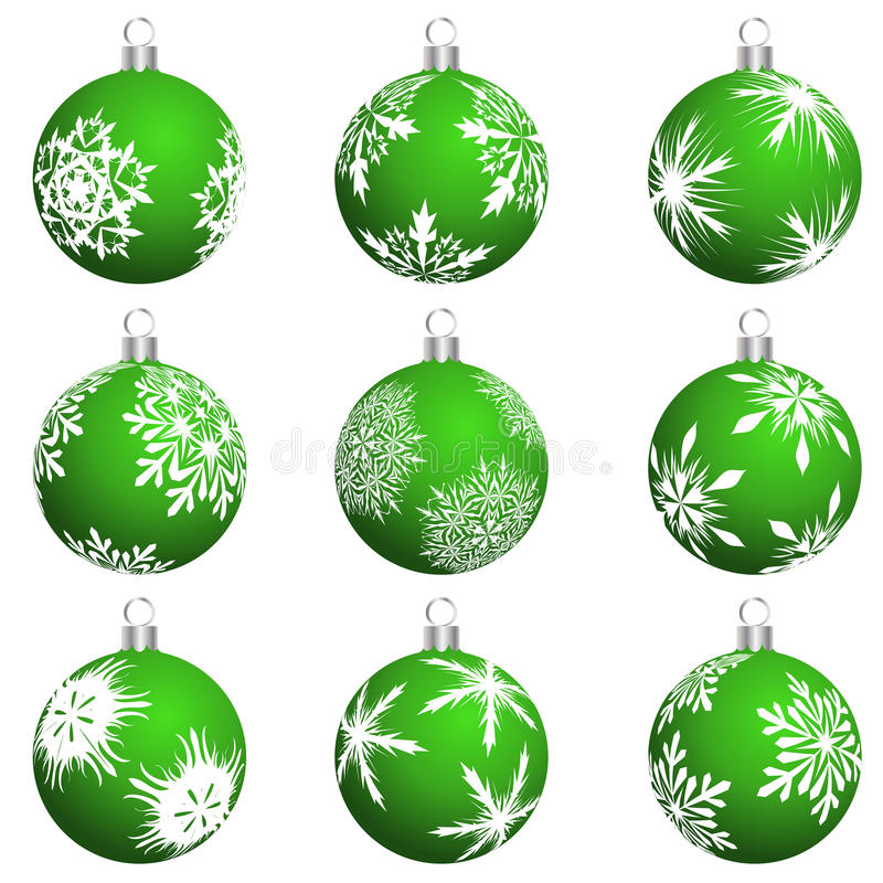 Download Christmas balls set stock vector. Image of background - 11844445