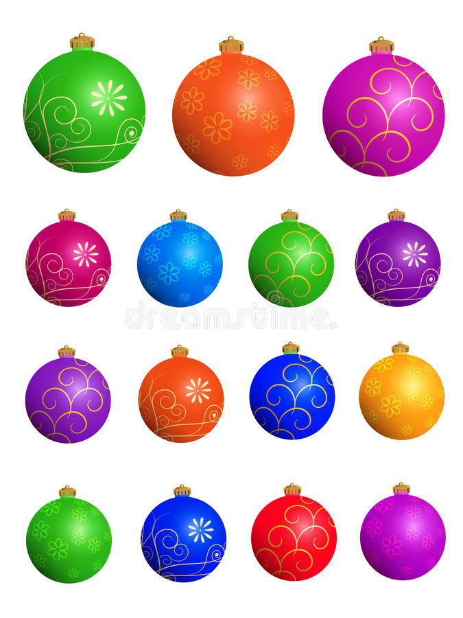 Download Christmas Balls Set Royalty Free Stock Images - Image: 22117549