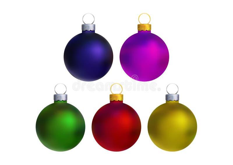 Christmas balls royalty free illustration