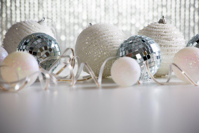 Christmas balls on shiny backgroun. Beautiful Christmas balls on shiny backgroun stock images