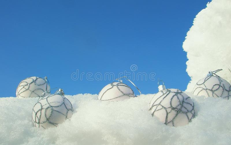 Download Christmas balls on snow stock photo. Image of holiday - 23151134