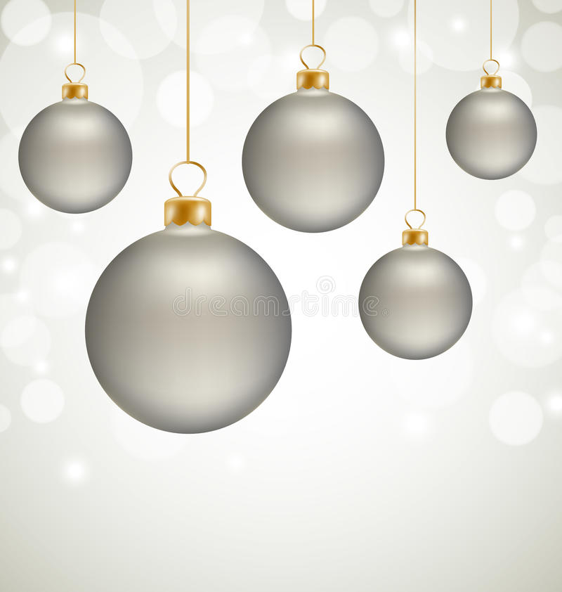 Christmas Balls And Snow Abstract Background Stock Images