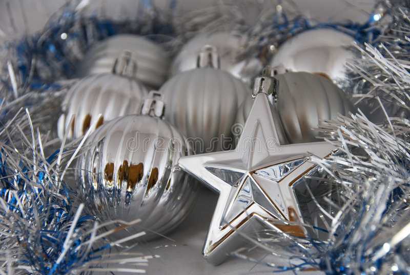 Christmas Balls And Stars Stock Photos