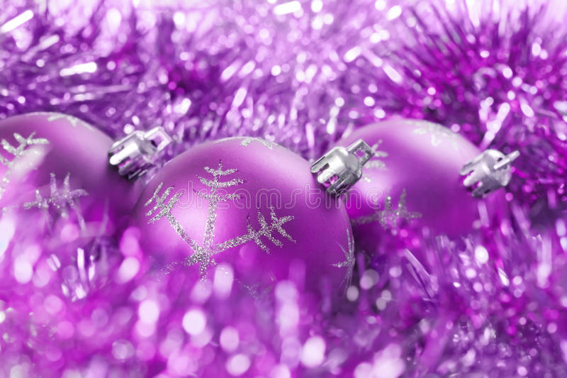 Download Christmas Balls With Tinsel Stock Photo - Image: 27775116