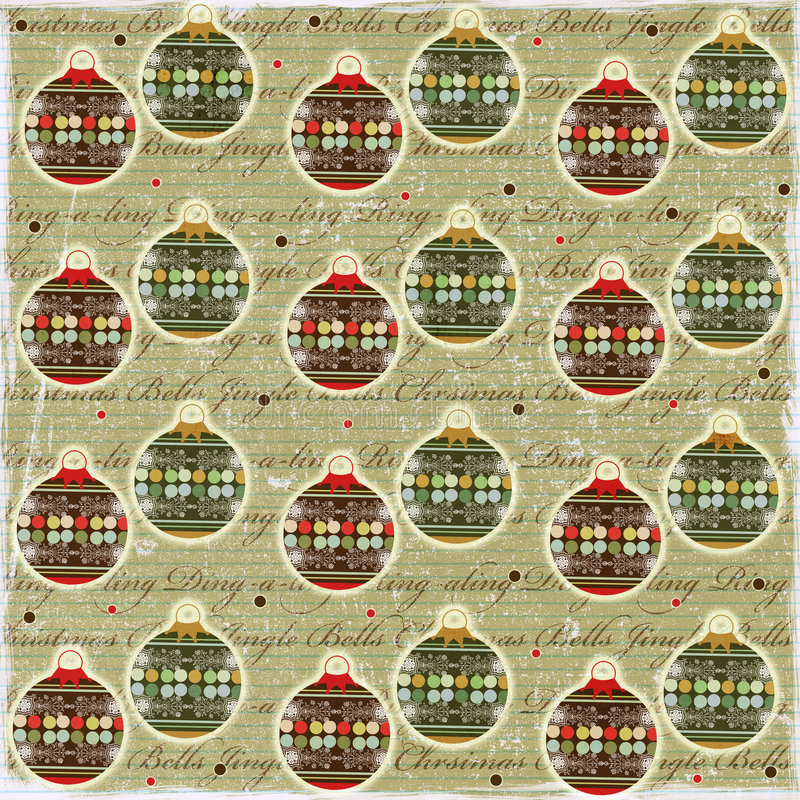 Download Christmas Balls Vintage Style Paper Royalty Free Stock Image - Image: 3834886