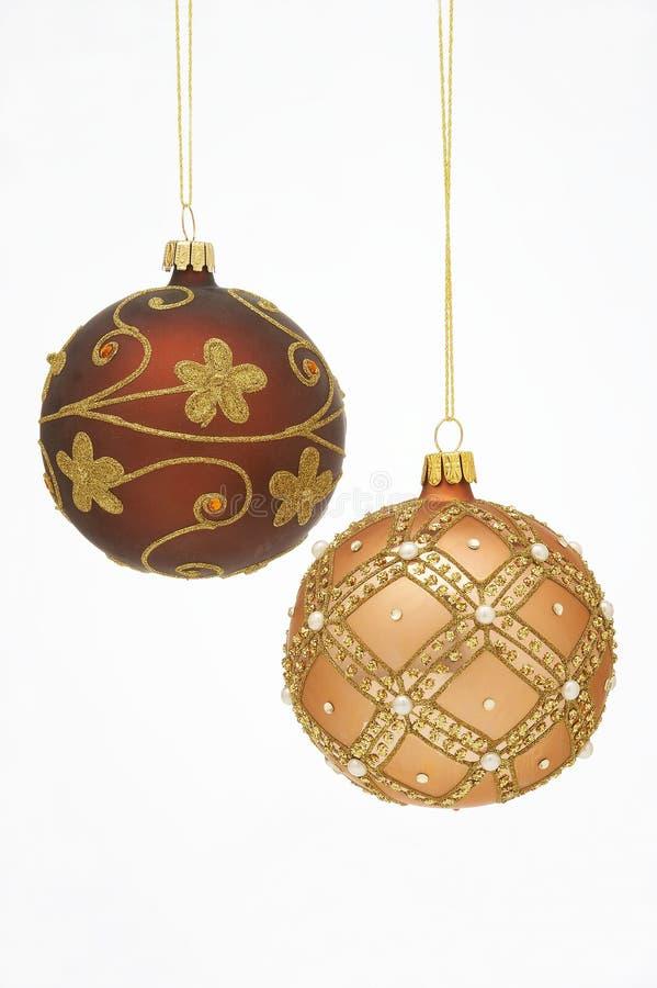 Christmas Balls - Weihnachtskugeln stock images