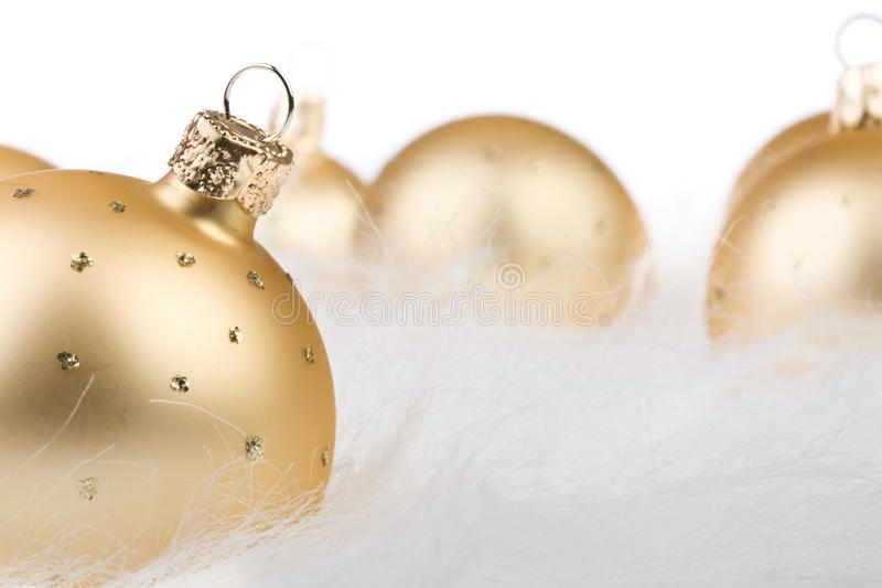 Download Christmas Balls In White Fur Stock Photo - Image of decoration, season: 19950704