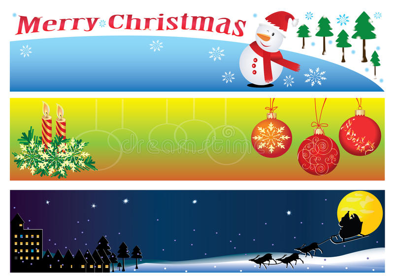 Christmas Banner For 3 Period Of Time_eps Royalty Free Stock Photography
